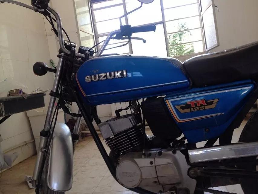 85年原装日本铃木TR125摩托车