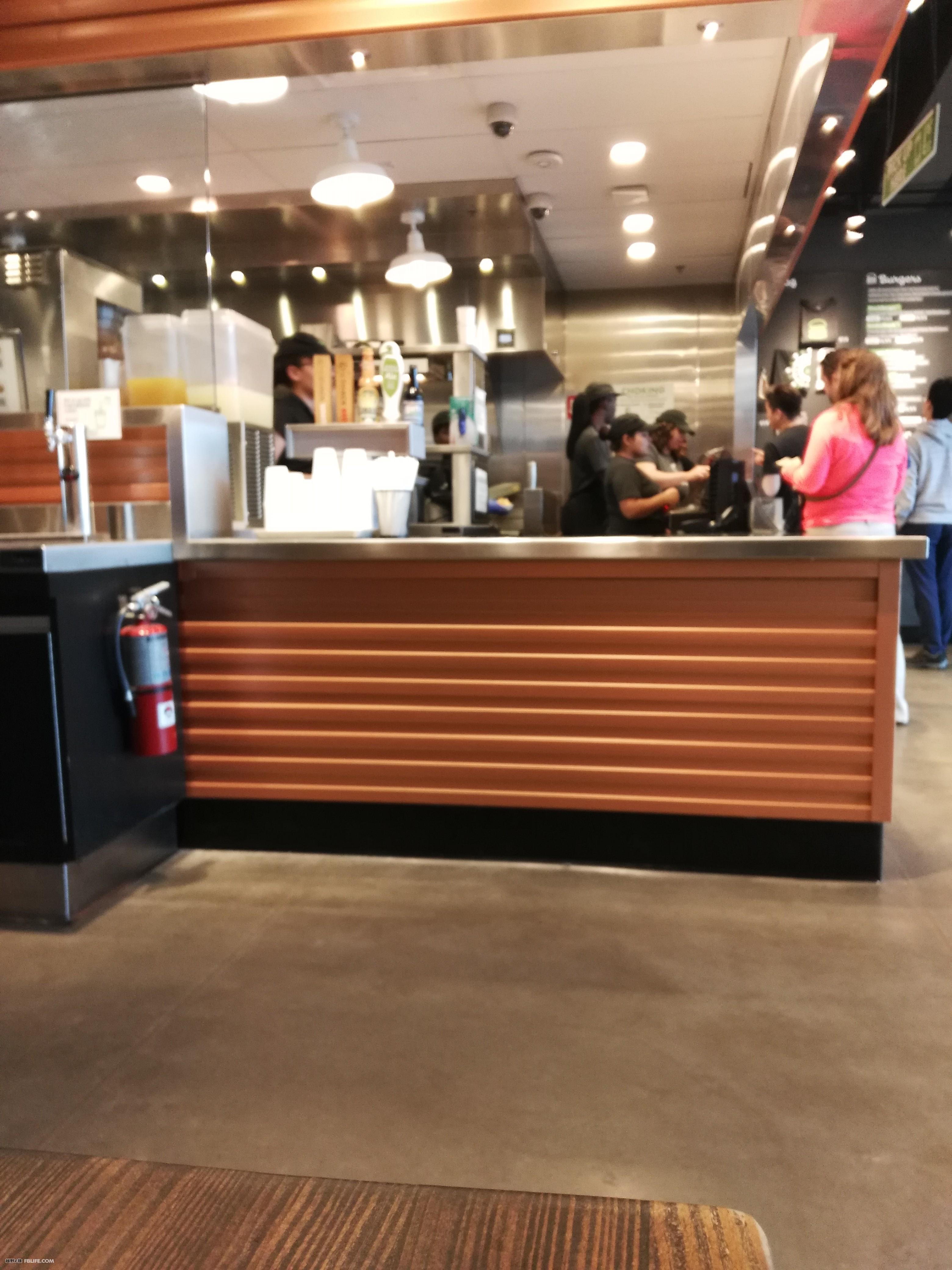 汉堡店的吧台效果图_装装修