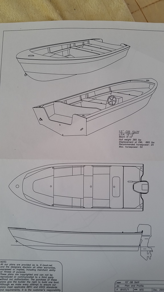 4.6米玻璃钢快艇图纸